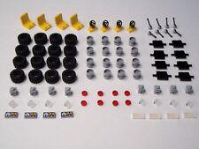 Lego Tires Steering Wheels Seats Axles 100% Lego Brand Bulk Pieces Car Parts Lot