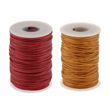 2Pcs Leather Sewing Waxed Thread Yarn For Leather Shoes All Purpose 1.2mm