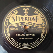 SUPERTONE  NOS 1920's Victrola 78 rpm record Plada's Serenaders DREAMY HAWAII