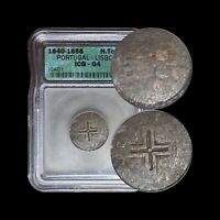 1641 Portugal 50 Reis (Silver) - ICG Graded - João IV 1/2 Tostão