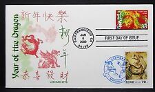 US Leb China Cachet Cover FDC Year of the Dragon Ersttag Brief (I-7365