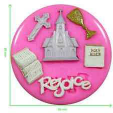 First Holy Communion Church Cross Religion Silicone Mould by Fairie Blessings