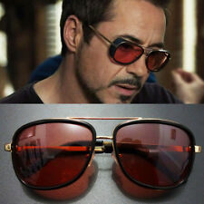 TRENDY Tony Stark Iron Man Sunglasses Men Luxury Brand Eyewear Mirror Punk