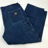 Carhartt Original Dungaree Fit Jeans Men's Size 42 x 30 Dark Blue Denim Cotton