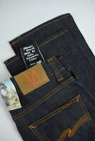 RRP $179 NUDIE BOOTCUT BARRY DRY OLD ORGANIC Men W30/L32 Raw Denim Jeans 3629*mm