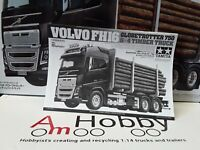 1/14 Tamiya Volvo FH16 Globetrotter 750 6x4 Timber Truck Instructions