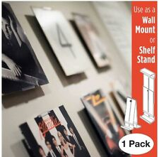Album Mount Vinyl Record Shelf Stand & Wall Mount, Invisible & Adjustable