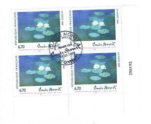 France 1999 Bloc de 4 timbres stamps sheet, Claude Monet Nympheas YT3247