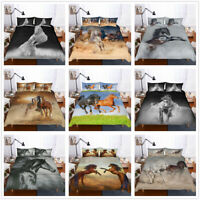 3D Animal Horse Duvet Cover Bedding Set Quilt Cover / Comforter Cover Pillowcase