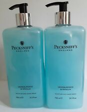 Lot of  2 Pecksniff's England Sandalwood & Vanilla Hand Wash -25.3 fl oz each!
