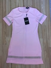 Ladies Womens Size 8 Light Pink Misguided Short Sleeve Dress Bnwt