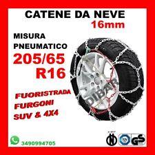 Catene da Neve OMOLOGATE Speed 9mm per Pneumatici GOMME 225//65 R 17 225 65 R 17