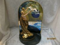 FRANKLIN MINT ERTE WINGS OF TIME  CLOCK WITH FIGURE