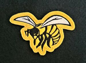 Wasp Embroidered Patch Badge Iron on or sew yellow and black