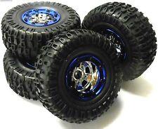 Bs703-004 1/10 Scala RC Rock Crawler Fuori Strada Ruote E Pneumatici 4 blu in plastica