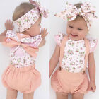 Newborn Infant Baby Girls Infant Romper Jumpsuit Bodysuit Clothes Outfit Set New