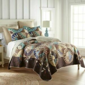 Donna Sharp SALISBURY Quilt with shams Full / Queen / King 3 Pc Set