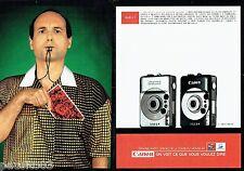 PUBLICITE ADVERTISING 116  1997  Canon (2p)  appareil photo IXUS L1  coupe monde