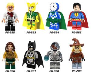 NEW MINIFIGURES lego MOC Super Heroes Watchman Loki Superman Aquaman Batman