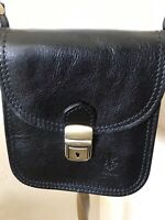 Borse in Pelle Vera Pelle black leather crossbody made in Italy NWOT beautiful