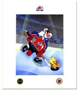Sylvester & Tweety(Avalanche)-Licensed Mixed Media Print/Looney Tunes & NHL Seal