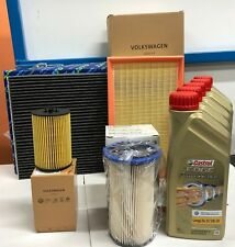KIT TAGLIANDO 4 FILTRI ORIGINALI 5 LT CASTROL EDGE 5W30 VW GOLF VII 7 1.6 TDI