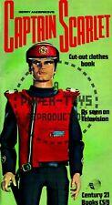 Vintage Reprint - 1960S - Captain Scarlet Paper Cut-Out Clothes Book - Repro