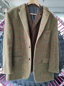 Sakko Jacke + Weste Schurwolle English Style ca. Gr. 54 Harris Tweed Walbusch
