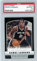 Kawhi Leonard San Antonio Spurs 2012 Panini Rookie Card RC #216 PSA GEM 10