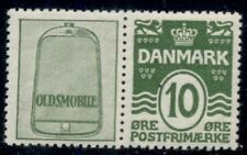 DENMARK (RE17) 10ore green OLDSMOBILE advertising pair, og, NH