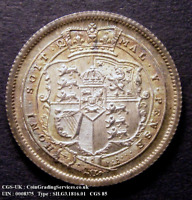 1816 Choice UNC - BU British George III Silver Shilling Coin CGS 85, ~MS65