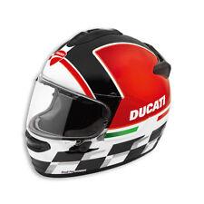 DUCATI Arai Chaser-X CHECKMATE Helm Helmet schwarz weiß NEU !!