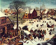 Peter Breughel The Elder Bethlem Landscape Painting 8x10 Real Canvas Art Print
