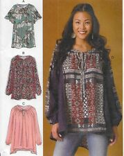 New! Plus Size 16-26 Loose Pullover Tops Sewing Pattern McCalls 7434