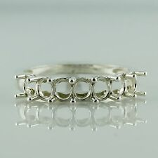 3x4 MM Semi Mount Exotic Ring Oval Shape Cluster Sterling Silver Women Jewelry