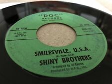 "Shiny Brothers - The Brush / Smilesville, USA - 1964 VINYL 45 RPM 7"" Record VG"