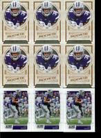 2019 ALEX BARNES LOT OF 9 ROOKIE FOOTBALL CARDS TENNESSEE TITANS KANSAS STATE RC