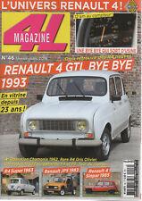 4L MAGAZINE 46 RENAULT 4 GTL BYE BYE R4 SUPER CAR SYSTEM JP5 R4 GTL 4x4 SINPAR
