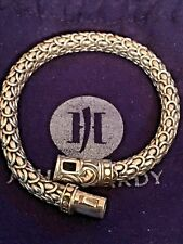 John Hardy Naga Dragon Bracelet 18k & Sterling Silver