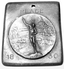 1830 Treaty of Dancing Rabbit Creek Alabama Peace Treaty  Medal