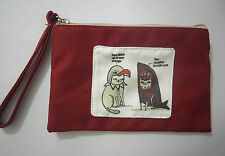Cute Cotton Canvas Small Zipper Wallet Bag Purse Coin Key Phone Holder Girl-Cat1