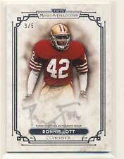 RONNIE LOTT 2013 Topps Museum Signature Series SILVER INK AUTO /5 RARE 49ers HOF