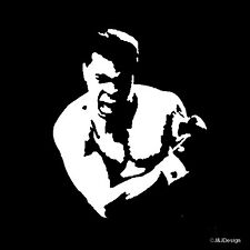 Muhammad Ali 'The Greatest of All Time' Fighter Boxer Famous Vinyl Decal White