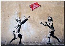 """BANKSY STREET ART CANVAS PRINT Panda guns 18""""X 12"""" stencil poster"""