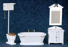 Melody Jane Dolls House Traditional Victorian White Bathroom Suite Miniature Set