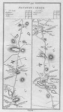 1778 Irlanda Cavan STRADONE bailieborough kingscourt Ardee ETC Antico Road Map