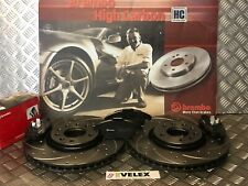 BREMBO FRONT DRILLED & GROOVED DISCS & PADS VAUXHALL ASTRA VXR 2.0 2005-2014