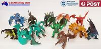 set of 12 / 6 mystical dragons figurine cake topper