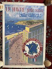 Affiche originale Tour de France 1955 - Le Havre