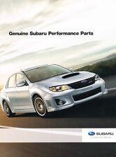 2013 Subaru Perfomance Car Parts Brochure Catalog for Impreza WRX